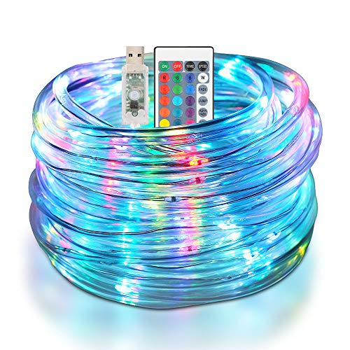 Zorara LED Schlauch RGB Außen 10M 100 LED, Wasserdicht IP68 Lichtschlauch mit USB/Fernbedienung /16 Farben 4 Modi für Weihnachten Deko Hochzeit