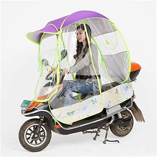 JYTB Universal Car Motor Scooter Umbrella Motocicleta Rain Rain Cover, Totalmente Cerrado Motor Scooter Umbrella Mobility Sun Shade & Rain Cover Impermeable Hoja de Arce