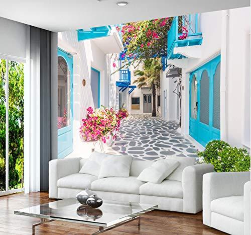 Fototapete 3D Einfache Durable Removable Photo Persönlichkeit Griechenland Santorini Liebe Meer Wohnzimmer Schlafzimmer Poster Aufkleber Dekoration 90 Cm * 60 Cm