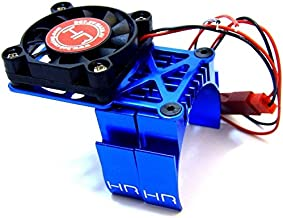 Hot Racing MH550TE06 Blue Multi Mount Fan Heat Sink 36mm Motors, Blue