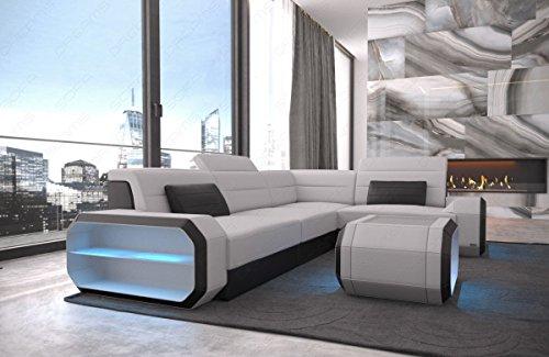 Sofa Dreams stoffen sofa hoekbank Verona modern met LED-verlichting