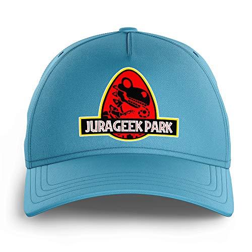 OKIWOKI Yoshi - Jurassic Park Lustiges Hellblau Kinder Kappe - Yoshi und Jurassic Park (Yoshi - Jurassic Park Parodie signiert Hochwertiges Kappe - Einheitsgröße - Ref : 430)