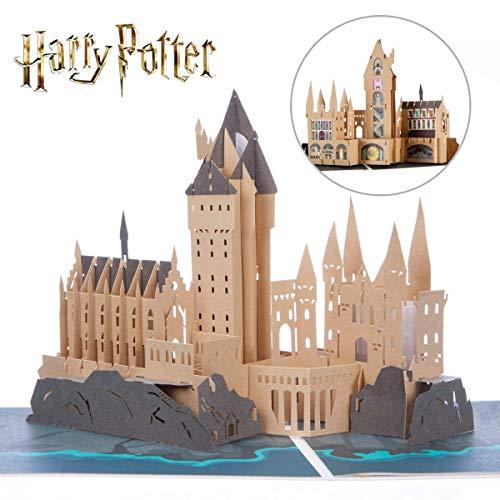 Harry Potter Verjaardagskaart | Zweinstein Castle Pop Up Card | Inclusief Zweinstein Envelop & Notitiekaart voor uw boodschap | Officieel gelicenseerd door Cardology