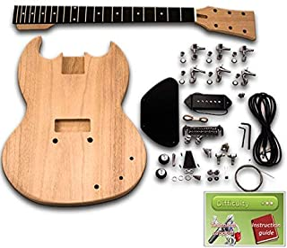Kit de guitarra DiY – SG Junior, ébano