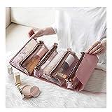 Crazyfly - Bolsa de almacenamiento portátil para mujer, de gran capacidad, plegable, bolsa de almacenamiento de viaje, 4 en 1, bolsa de aseo desmontable, apta para cuidado personal, viajes