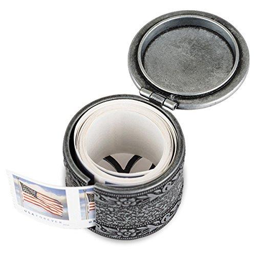 Floral Metal Stamp Coil Dispenser / Stamp holder