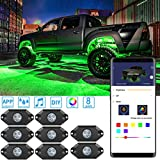 Govee RGB LED Rock Lights, 8 Pods App Control Neon Lighting Kit, Waterproof Music Rock Lights, Car Underglow Rock Lights for JEEP Off Road Truck Car ATV SUV Motorcycle