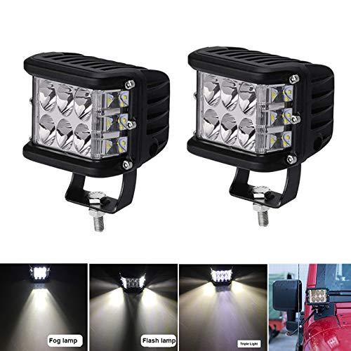 Phare de Travail LED, 45W Lampe de travail à LED de 4 pouces, IP67 étanche LED Lampes Spot Projecteurs Phares Supplémentaires Phares avant 10V-30V, pour Voiture Camion Tracteur SUV Bateau