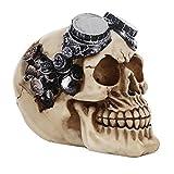 MagiDeal 3D Crâne Squelette Décoratif Modèle Résine Ornement Gothique Décoration Pub Bar Café Maison - Steampunk, 14 * 10 *...
