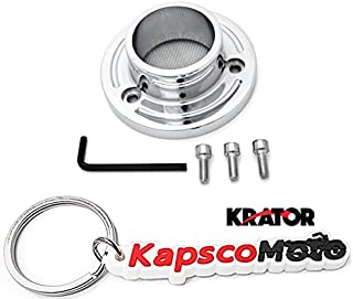 Krator Polaris Predator 500 / Outlaw 500/525 ATV Exhaust Tip Muffler Power Outlet Polished Chrome + KapscoMoto Keychain