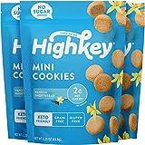 HighKey Keto Cookies - Low Carb Dessert, Grain & Gluten Free Desserts - Paleo and Diabetic Snacks - Healthy Sweets - Almond Cookie - No Sugar Added Sweet Diet Friendly Snack- Vanilla Shortbread