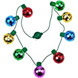 9 LED Christmas Light Necklace -3 Modes Light up Bulb Necklace Halloween Xmas Family Parties