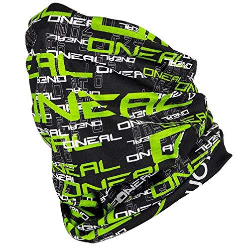 O'NEAL | Halstuch Schlauch-Schal | Mountainbike Motocross Enduro Motorrad | ungesäumt, für einen besseren Tragekomfort, elastischer Stoff | Neckwarmer | Erwachsene | Schwarz Grün | Einheitsgröße