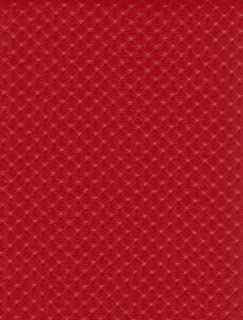 Red Perforated Distressed Upholstery Faux Leather Vinyl Fabric Per Yard