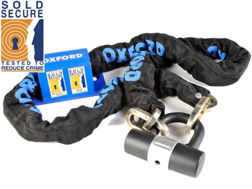 Sold Secure Ground Anchor & Chain for Bikes and Motorcycles 1.5M