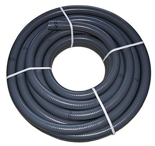 PVC Flexschlauch, Klebeschlauch, Teichschlauch, Poolflex, Aussendurchmesser 40mm, für Schwimmbad, Pool, Teich (25m)