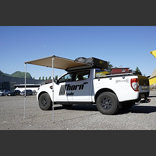 horntools Markise Straight 1,4x2m Vordach Dachzelt Awning Sonnenschutz