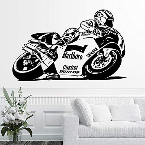 Tianpengyuanshuai Race motorfiets sticker racing vinyl wanddecoratie wandsticker motorfiets racing sticker