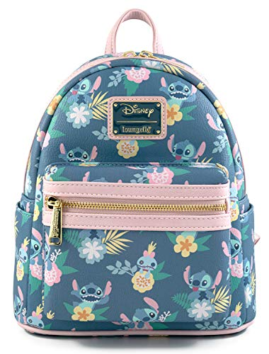 Loungefly Stitch Lilo and Stitch All Over Print Womens Double Strap Shoulder Bag Purse
