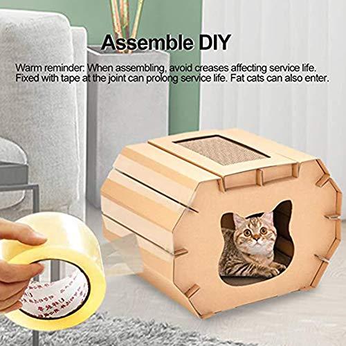 QDCITT Cat Scratcher Cartón Rascador de Cartón Reciclable Cartón de Papel Corrugado para Gatos Interiores Jugando Resto Dormir, Productos para Mascotas Venta al por mayor y al por menor