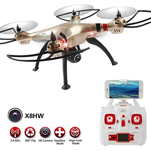 Syma X8HW (aggiornamento Del popolare Syma X8W) 2.4GHz 6-Axis Gyro Wifi FPV Con la macchina fotografica HD RC Quadcopter Drone (X8HW)