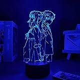 Luces de noche de Pascua Anime Personajes Iluminan tus mentiras en abril Comics Lies in abril Linda decoración de la habitación Decoración del hogar Regalos para novias Panel luces LED ERJIE