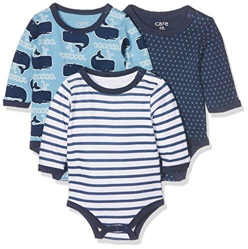 Care Langarm Baby Body 3er Pack 3er Pack , (Deep Skye Blue 720) 74 cm