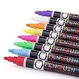 Chalk Markers 8 Colors With Bonus 24 Chalk Stickers - Premium Erasable...