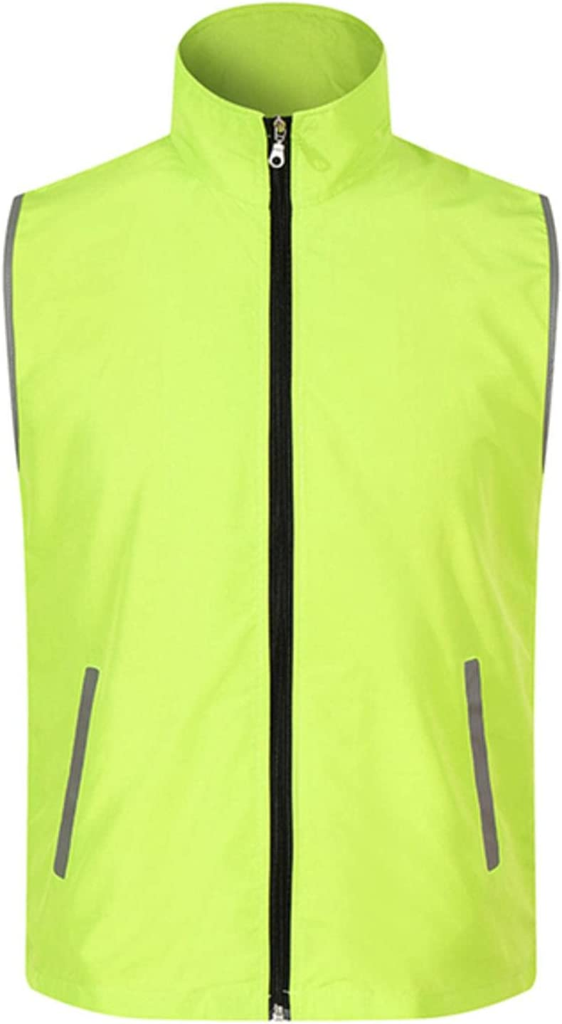 NC Reflective Vest Men's Outdoor Volunteer Workwear Jacket Set Breathable Zipper Cuff Pockets Reflective Vest VM1021