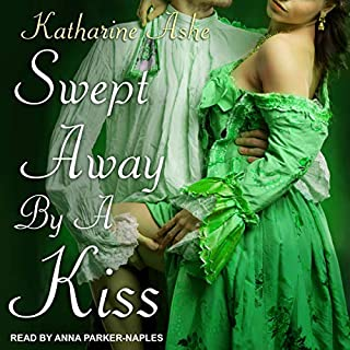Swept Away by a Kiss audiobook cover art