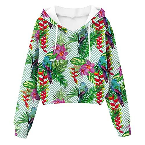 Wirziis Crop Tops For Women Fall Long Sleeve Drawstring Pullover Blouses Casual Pockets Tie Dye Sweatshirt Sweater Tops