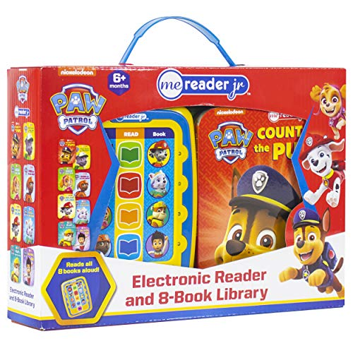 Nickelodeon - PAW Patrol Electronic Me Reader Jr. and 8 Sound Book Library - PI Kids