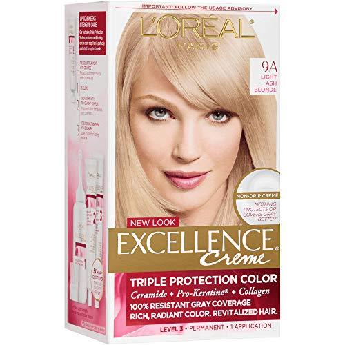 L'Oreal Paris Excellence Creme Haircolor, Light Ash Blonde [9A] (Cooler) 1 ea