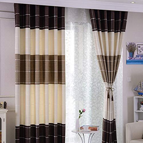 Zshhy Fenster Verdunkelungsvorhang Schlafzimmer Schlafzimmer gestreifte Vorhänge Küche Cortina Vorhänge Türen Stoffe für Wohnzimmer Pull Plissee Tape B100xH270cm