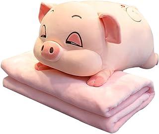 WZHZJ Plush Toys Sleeping Pig Animal Crossing Plush Pillow Plus Blanket Quilt Air Conditioning Pillow Baby Toys (Size : Do...