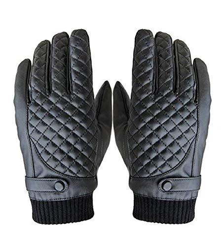 Motorrad-Handschuhe für Herren, Wintersport, Kunstleder, Touch-Handschuhe