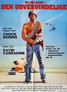 Lone Wolf McQuade Movie Poster (27 x 40 Inches - 69cm x 102cm) (1983) Danish -(Chuck Norris)(Leon Isaac Kennedy)(David Carradine)(L.Q. (Justus E. McQueen) Jones)(Barbara Carrera)