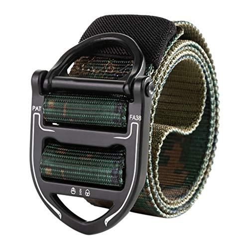 Unisex Gürtel Nylon Canvas Belt, Schnellverschluss Style Shooters Nylon Gürtel