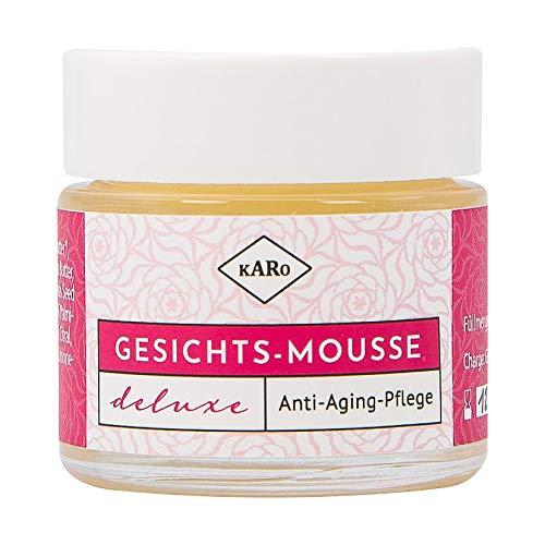 Gesichts-Mousse deluxe/Anti-Aging-Pflege/Naturkosmetik/Mit Argan-, Wildrosenöl und Sheabutter/Bio/Vegan / 30 ml/Glastiegel