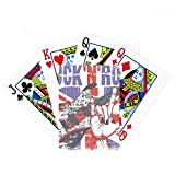 Rock Guitar Inglaterra Gran Bretaña bandera del país juego de cartas mágicas