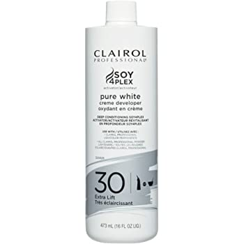 Clairol Professional Soy4plex Pure White Creme Hair Color Developer, 30 Volume
