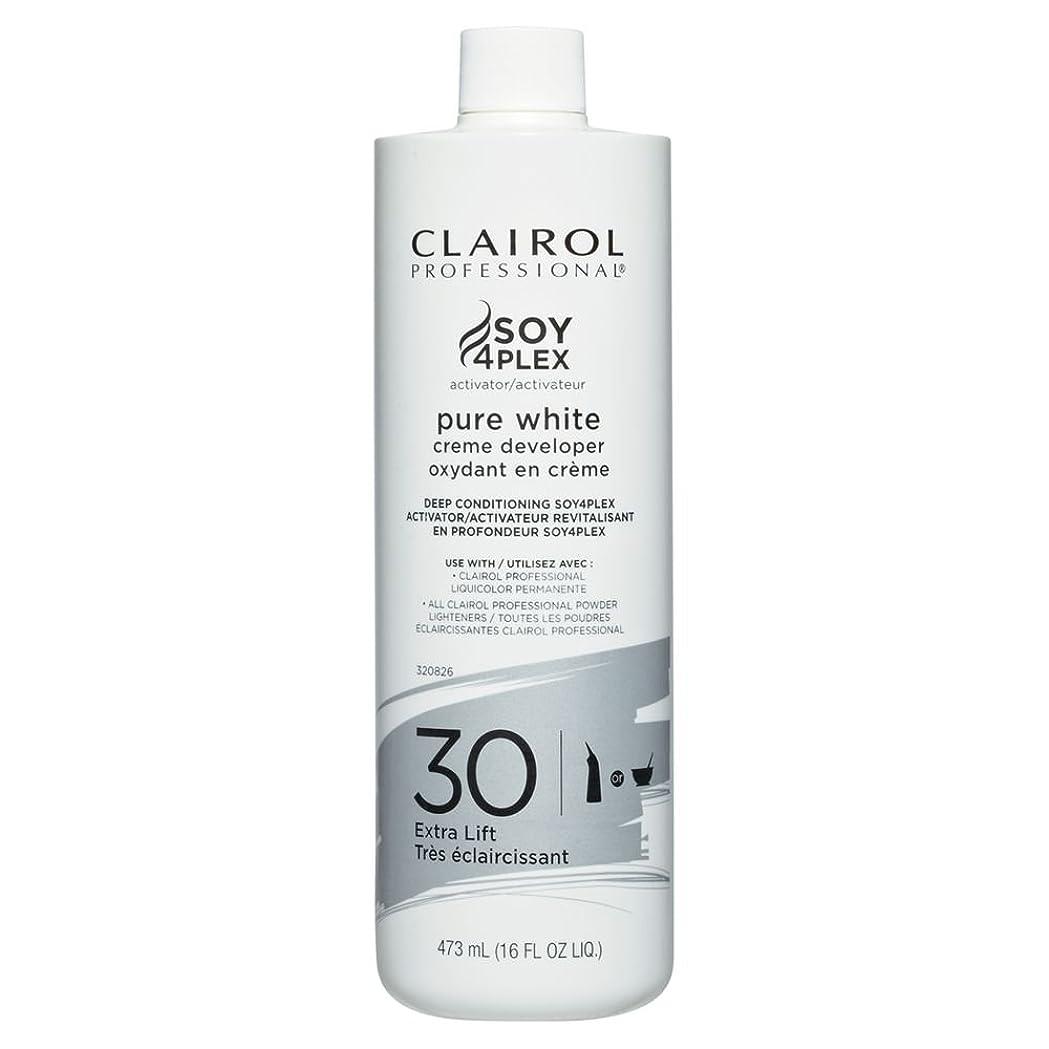 ボウルグラスサポートClairol Professional Soy4plex Pure White Creme Hair Color Developer, 30 Volume by Clairol