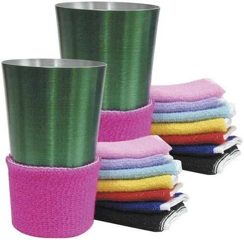 discount Terry Assorted Colors Beverage Drink Covers 2021 - online sale Non Slip (Set of 16) online