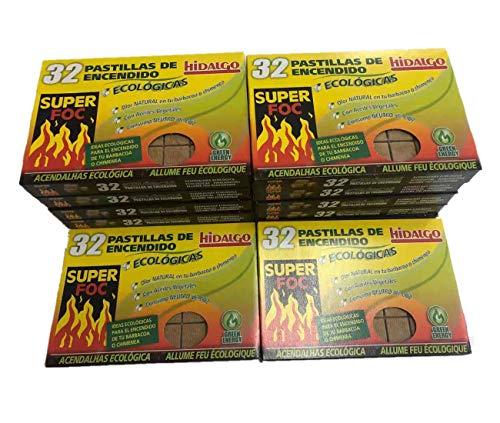 12 Caja 384 pastilla de encendido para encender chimeneas, Estufas y barbacoas.
