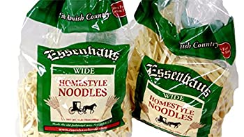 Das Dutchman Essenhaus Amish Old Fashioned Homestyle Wide Egg Noodles  2 Pack 16 oz / 455 g Each