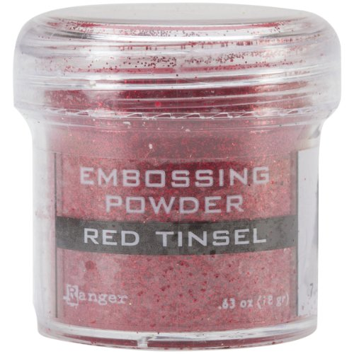 Ranger Embossing Powder, 1-Ounce Jar, Red Tinsel