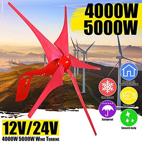 GJZhuan 2020 4000W / 5000W 12V / 24V Wind-Energie-Turbinen-Generator 5 Wind Blade-Windmühle Windgenerator Controller Set Boatfor Solar-Straßenbeleuchtung Hot Wind Turbines Generator