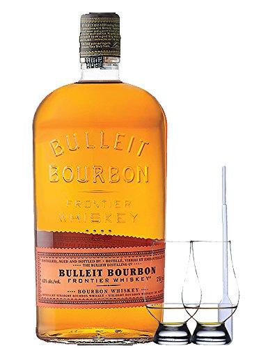 Bulleit Bourbon Frontier Whiskey 0,7 Liter + 2 Glencairn Gläser + Einwegpipette 1 Stück