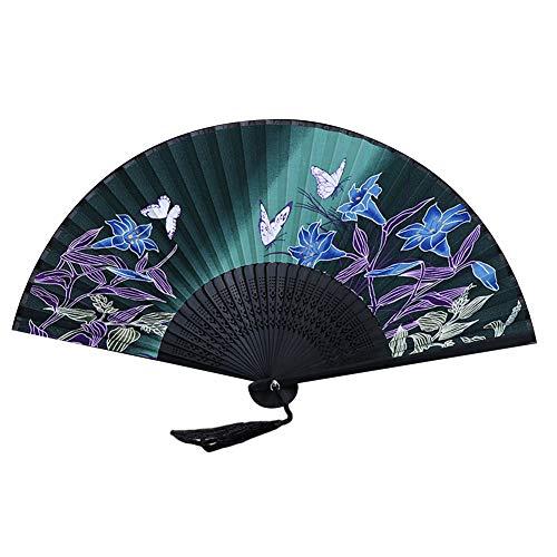 Daliuing Style Chinois Fleur de Prunier Motif Design Ventilateurs en Bambou
