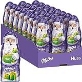 Milka Weihnachtsmänner Nuss 24 x 45g, Zartschmelzende Schokolade mit Haselnüssen